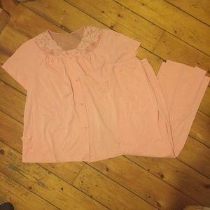 Shadowline Pink Pajama Set